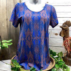 NWT LuLaRoe Classic T T-Shirt Size L Large Blue
